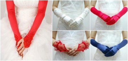 Белые свадебные перчатки (51 фото): короткие кружевные митенки на свадьбу и зимние модели