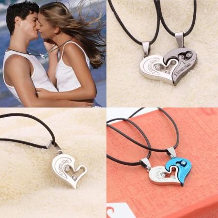 Кулоны для влюбленных (90 фото): парные модели для двоих в виде половинок сердец, кулоны-неразлучники