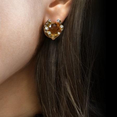Серьги с топазом (130 фото): золотые и серебряные сережки с раухтопазом, серебро с голубым и желтым камнем