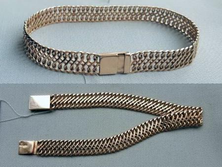 Якорное плетение цепочки фото