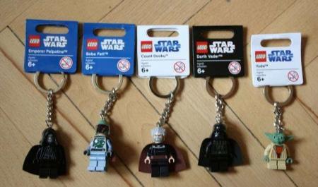 Брелок Lego: модели с фонариком из серии Batman, Star Wars - Darth Vader и Ninjago
