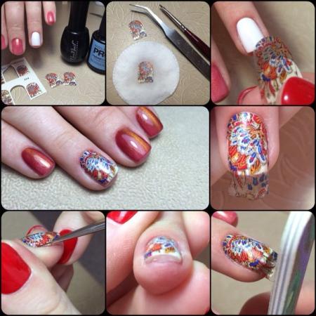 Как клеить слайдеры на ногти