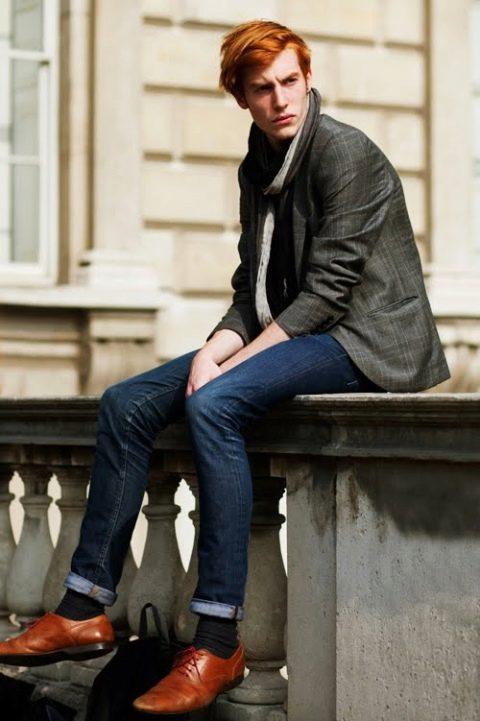 Мужские кожаные ботинки: кожа с подкладкой, высокие и