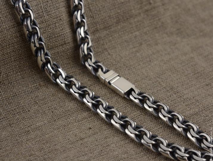Выбор мужской серебряной цепочки