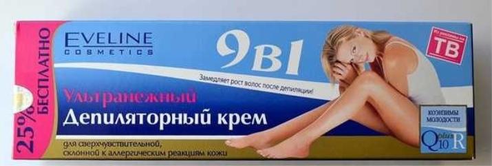 Крем для депиляции Eveline: ультрабыстрое ультранежное депиляционное средство 9 в 1, отзывы