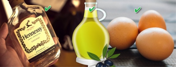 Маска для волос с коньяком: косметика на коньячной основе с медом, кофе, желтком, солью, отзывы