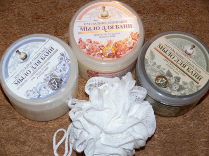 Белое мыло: средство для бани Рецепты бабушки Агафьи, туалетное мыло с ароматом фиалок для волос, отзывы