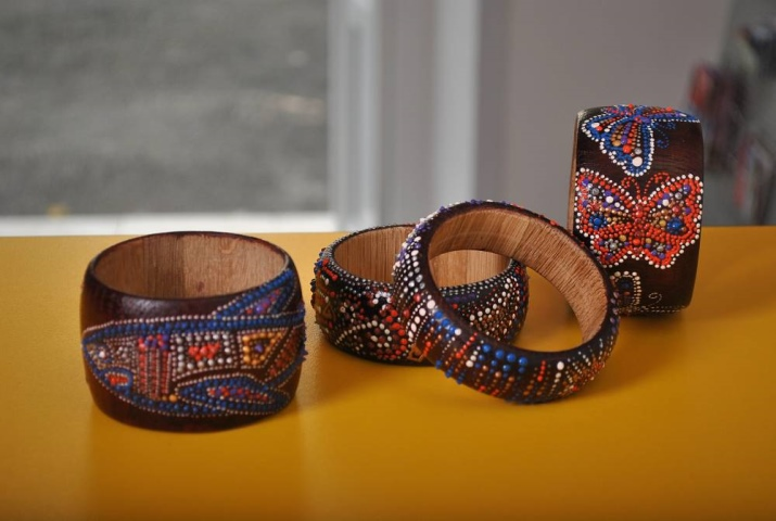 Деревянные браслеты для росписи