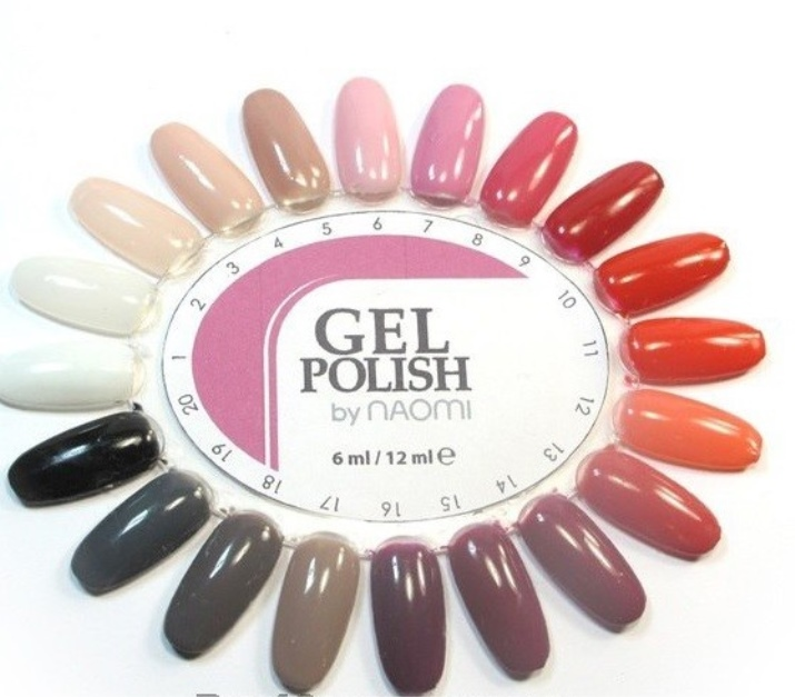 Гель-лак Naomi (23 фото): акварельные цвета палитры для ногтей линии Aquarelle, отзывы