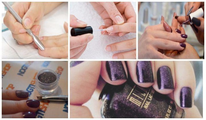 Как наносить блестки на гель-лак (47 фото): как правильно нанести и сделать оригинальный дизайн с блестками