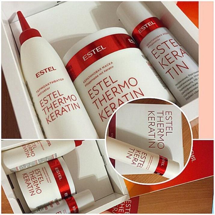 Кератиновая термо маска для волос estel