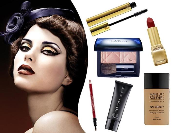 Макияж 50-х годов: как сделать make-up на новый год в стиле Чикаго, 30-х, 40-х, 70-х годов