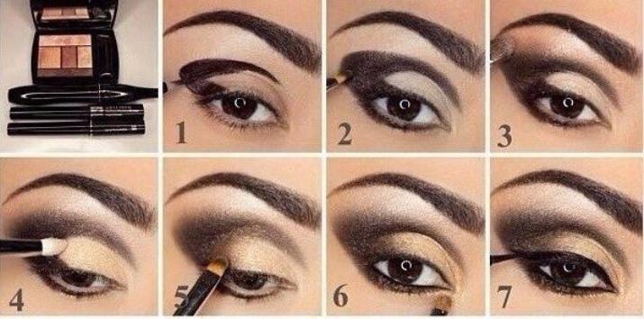 Какие тени подойдут для макияжа со стрелками