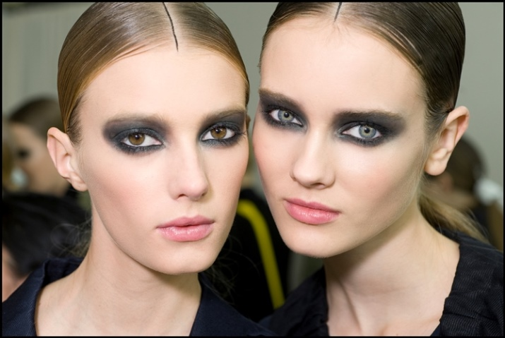 Макияж глаз сделать черные тени
