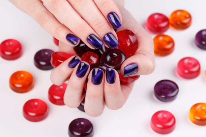 Дизайн ногтей витражными гель лаками фото