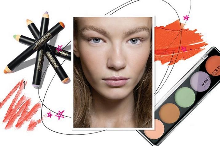 Как пользоваться корректором для лица палитра 15 цветов пошагово фото