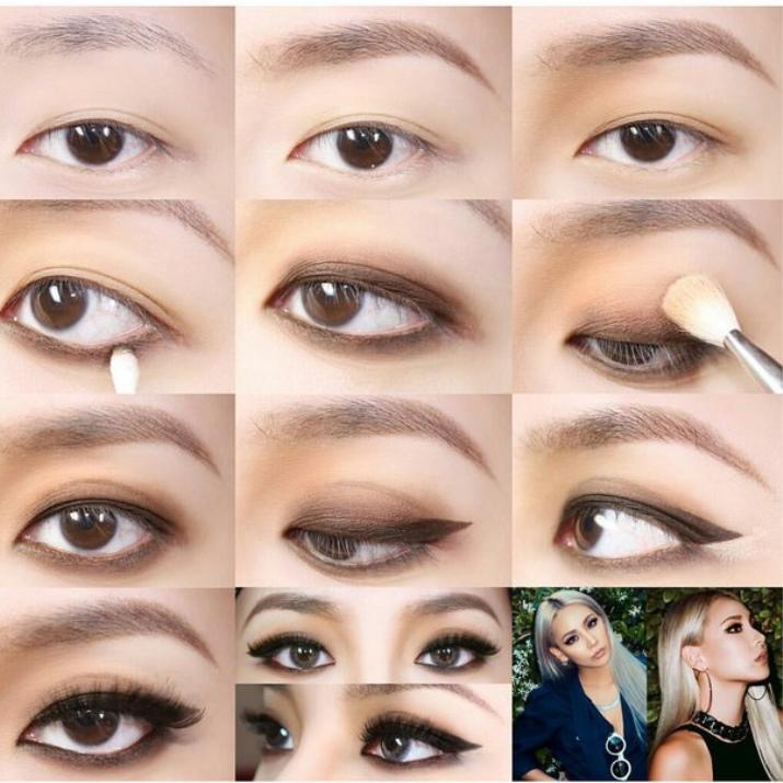 Как сделать глаза как у кореянки