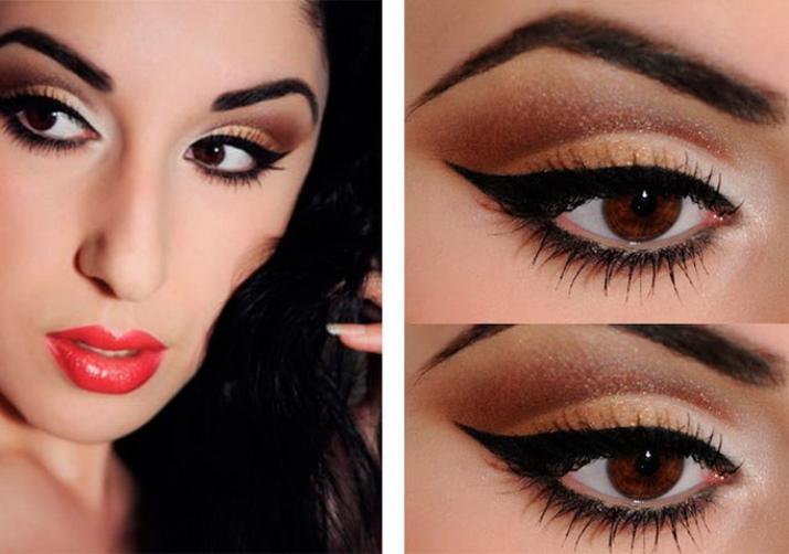 Соблазнительный макияж для карих глаз с фото